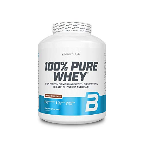 BIOTECH USA 100% Pure Whey Chocolate 2270 g Lactose Free | Whey Protein Powder Shake with Concentrate, Isolate, glutamine and BCAA |