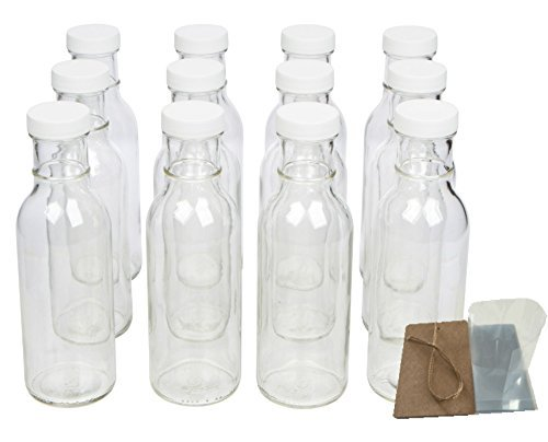 Protector de Boca Ancha Botellas de cristal para bebidas, decoraciones de salsa y con tapas, seguridad Shrink Wrap juntas y etiquetas, 12 oz, 12 unidades): Amazon.es: Hogar