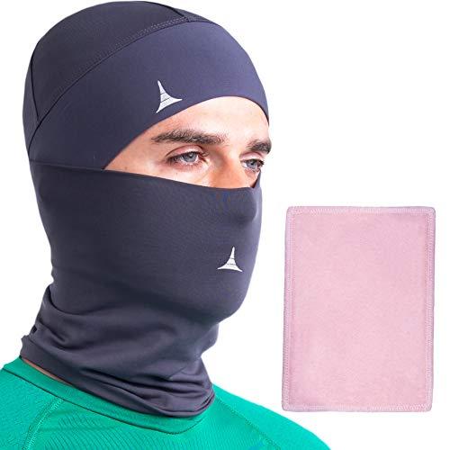 Balaclava Neck Gaiter Face Mask UV Sun Protection for Men Women Ski Snowboard Charcoal Gray