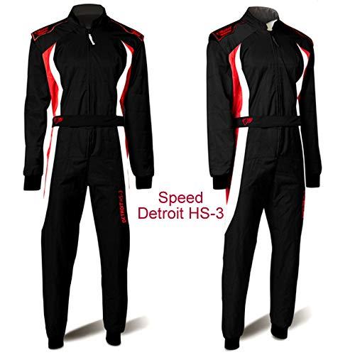 Speed Kartoverall Schwarz, Grau, Weiß - Karting Suit (S)
