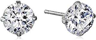 10K 金施华洛世奇锆石耳钉 (1 cttw)