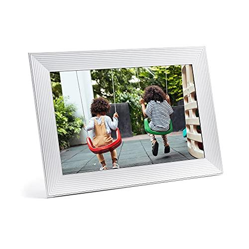 Aura Carver Luxe HD Smart Digital Picture Frame 10.1 Inch – Sea Salt