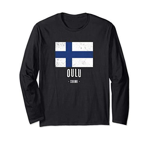 Stadt von OULU Finnland | FI Finnisch Flagge Souvenir - Langarmshirt