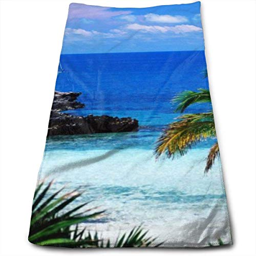 Toalla TwilightHand de Playa y mar Hawaiana Toallas de Lujo Ultra Suaves para baño, Hotel, Gimnasio y SPA 30x70cm