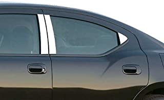QAA fits 2006-2010 Dodge Charger (6 Piece Stainless Pillar Post Trim) PP46911