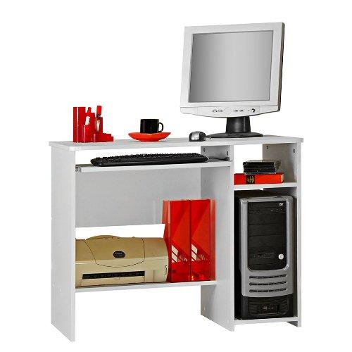 Möbeldesign Team 2000 GmbH Schülerschreibtisch - Computertisch - PC-Tisch weiß 8048