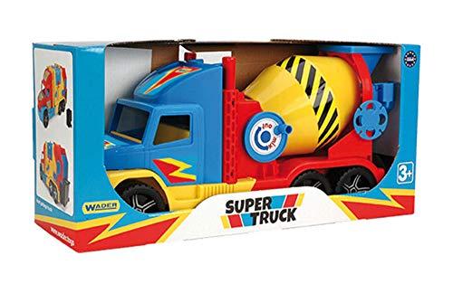 Wader 36590 - Super Truck Betonmischer mit drehbarer Trommel, ab 3 Jahren, ca. 59 cm