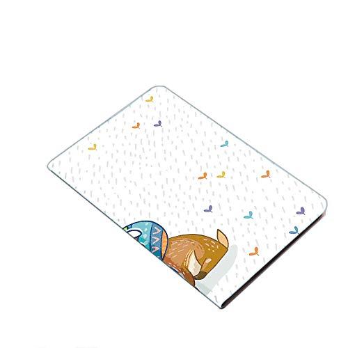iPad Air 10.5' (3rd Gen) 2019 / iPad Pro 10.5' 2017 Smart Case Cover - Colorful Antlers Boho Deer Retro Artsy Winter Rain Pattern Rainbow Heart Animal Theme Ultra Slim Lightweight Stand Case with PU L