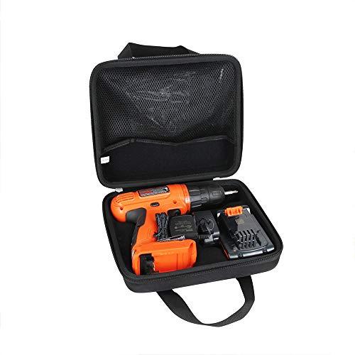 Hermitshell Hard Travel Case for BLACK+DECKER 20V MAX Cordless Drill/Driver with 30-Piece Accessories (LD120VA) (Black)