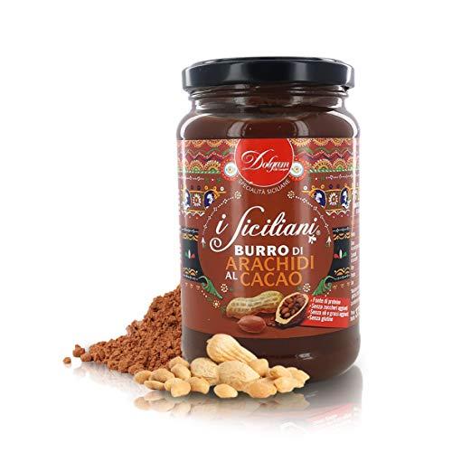 Dolgam Mantequilla de Manì con Chocolate, Producido en Italia, Frasco de 375 g