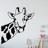 F FANTASY 'ART Pegatina de pared de jirafa safari selva animales salvajes pegatinas de vinilo para sala de estar, dormitorio, cuarto de guardería, decoración del hogar, 42 x 38 cm