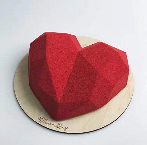GRK 3D Diamond Love Heart Dessert Cake Mould Pop Silicone Art Mold 3D Mousse Baking Pastry Decoration
