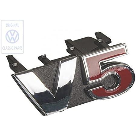 V5 Emblem Für Den Golf 4 Kühlergrill Frontgrill In Rot Chrom Schwarz Hier Plus Extra Schlüsselring Mit Schraubverschluss Set Auto