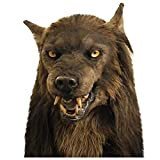 Head_Mask Werewolf Face_Mask Novelty Halloween Christmas Easter Costume Party Face_Mask Funny Latex Animal Head_Mask