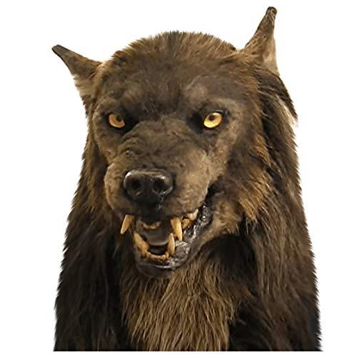 Halloween Costume Party Loup/loup-garou/perroquet ara/chat noir/aigle chauve masque de costume de chapeaux, Latex réaliste Animal pleine tête Fursuit masque pour Carnaval Cosplay Prop (Bouledogue)