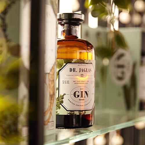 Dr. Jaglas Gin Seng | Wacholderbeer-Spiritus als Einzelflasche mit 500 ml | 50% Vol… - 4