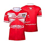 ZDVHM 2019 Tonga Home Jersey de Rugby, Manches Courtes 100% Polyester Respirant Tissu Sport Formation t-Shirt Maillot de Rugby Maillot de Football Uniforme pour Hommes Femmes Femmes Enfants