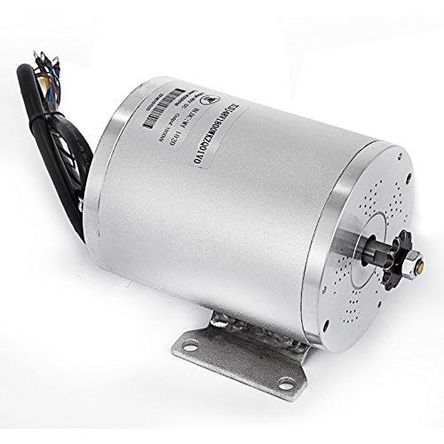 Mophorn Elektromotor 48V 1800W Gleichstrommotor 4500 U/min Nenndrehzahl Brushless-Motor mit Brushless-Controller Geeignet für E-Bikes Elektroroller (48V 1800 W mit Controller)