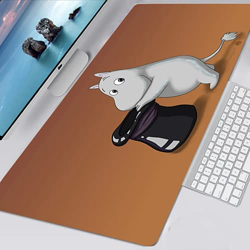 YYXPDD Alfombrilla para ratón con dibujos animados en 3D, 1000 x 50 mm, alfombrilla de ratón de goma, impermeable, material antideslizante (Moomin5,800 x 300 x 3 mm)