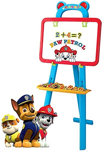 Paw Patrol 3 in 1 Educational Magnetic White and Black Board Learning Easel
