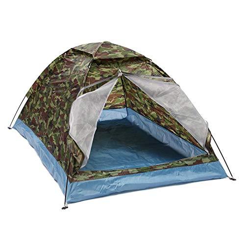 Jtoony Tienda de campaña al aire libre 1-2 personas tienda de campaña impermeable a prueba de viento UV sombrilla CanopyCamping tienda de senderismo