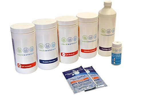 RockWaterAir Hot Tub Spa Chemicals Complete Bromine Starter Kit