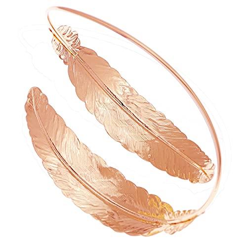 xingguang Pulsera india vintage de la hoja de laurel pulsera de serpiente brazalete superior del brazo del brazo del capítulo del día de la novia, de la danza del vientre, pulsera india (color de