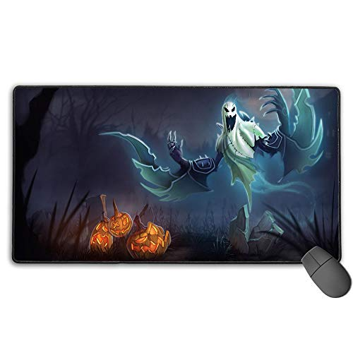 Alfombrilla de ratón impermeable para League Legends Nocturne Haunting, gran alfombrilla de ratón para juegos con bordes cosidos ultra gruesos, 3 mm x 40 cm x 75 cm