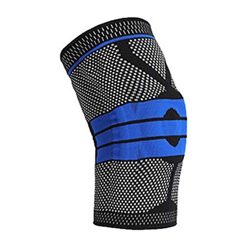 Kniestütze Knit Kniegelenkschutz mit Silikongel-Federstütze für Meniskusriss, Arthritis, Joggen, Sport, Laufen Männer Frauen
