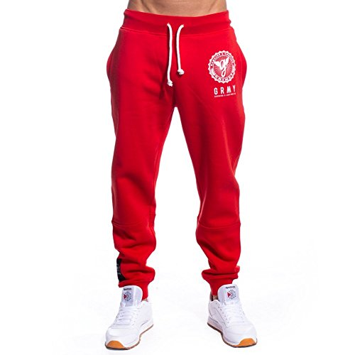 GRIMEY PANTALÓN Core Sweatpant FW17 Red-L