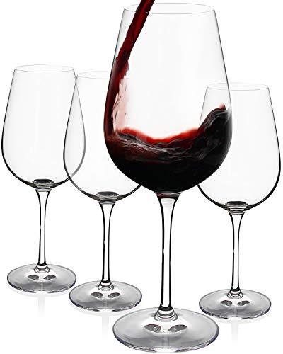 FAWLES Copas de Vino Tinto, Conjunto de 4 Piezas, 675 ML, Apto para Uso en Casa, Restaurante y en Fiestas