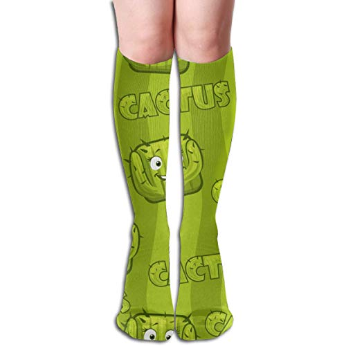 Hangdachang Square Smiley Cactus Unisex Moisture Wicking Athletic Crew Socks,Casual Socks,Short Sock Flexible And Breathable,Soft And Comfortable Fit Very Suitable Running, Walking, Gym Fitness.