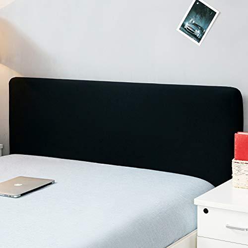 """Copertura per testiera per letto, protezione elastica a tinta unita, decorazione per camera da letto, copertura antipolvere, Nero , King (70.5-78"""")"""
