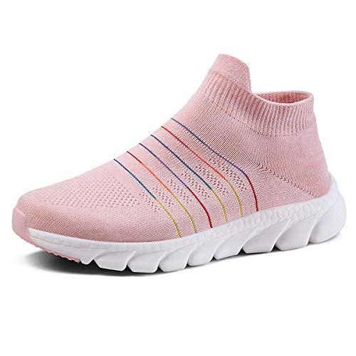 anbiwangluo Damen Trainer Gym Schuhe Leichte Wanderschuhe für Damen Laufsportschuhe Sneakers Rosa 39 EU