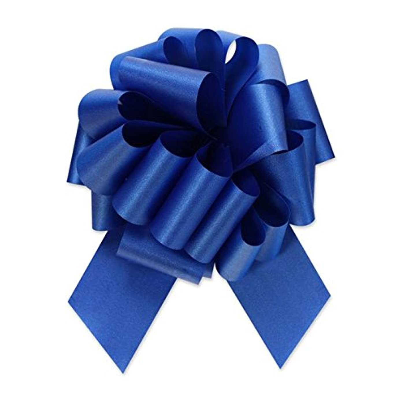 Berwick Offray Ribbon Pull Bow, 5.5'' Diameter with 20 Loops, Royal Blue