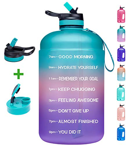 Huge Price Drop On Motivational Water Bottle With Two Lids Using Code