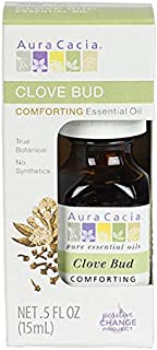 Aura Cacia 100% Pure Clove Bud Essential Oil | GC/MS Tested for Purity | 15 ml (0.5 fl. oz.) in Box | Syzygium aromaticum