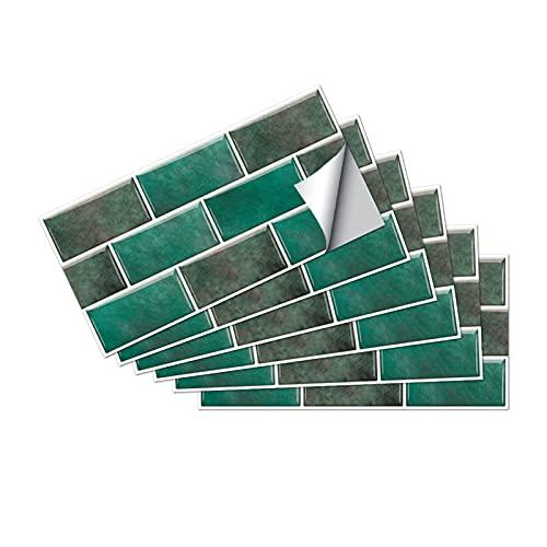 QOXEFPJZ Cenefa Adhesiva Cocina 6 unids Inicio Pegatinas de Pared Mosaico Flor Simulación Pegatinas de Azulejos 30x15cm Cocina Cocina Cuarto de baño Decorativo Muro Impermeable