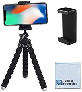 "Acuvar 6.5"" inch Flexible Tripod with Universal Mount for All Smartphones & an eCostConnection Microfiber Cloth"