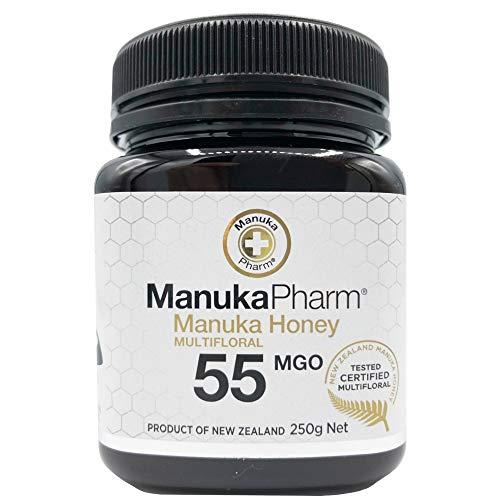 マヌカハニー 250gx1個 ニュージーランド直輸入 無添加 非加熱 100%純粋 生はちみつ マルチフローラル ( MGO 55+ )