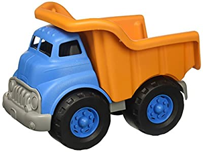 Green Toys Dump Truck Vehicle Toy, Orange/Blue, 10 x 7.5 x 6.75