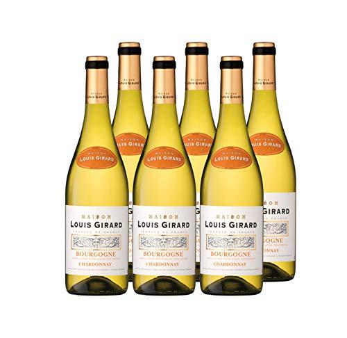 Maison Louis Girard - Chardonnay - AOP Bourgogne - Vin Blanc - Millésime 2018 - Lot de 6 bouteilles x 75 cl