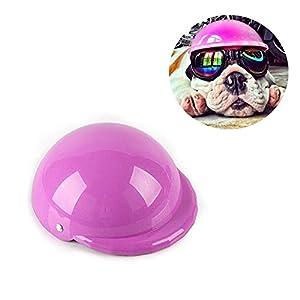MyTop Casque en plastique ABS pour animal domestique, pour balades à moto ou cosplay, accessoires pour chiens