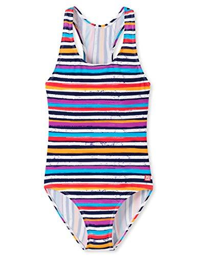 Schiesser Mädchen Aqua Badeanzug, Mehrfarbig (Multicolor 1 904), 164