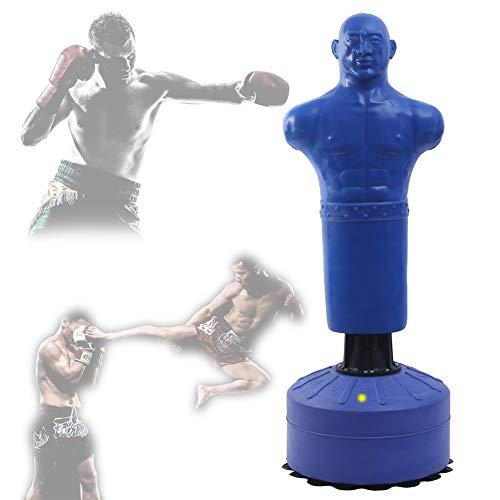 ALTINOVO Standboxsack,Boxstand Punching Stand Punchingball Set Boxsack Erwachsene Freistehender Standboxsack Mit Saugnapfboden Kieselgel Menschlicher Sandsack,Blau