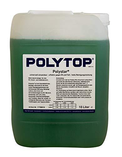 Polytop Polystar Reinigungskonzentrat Mehrzweckreiniger Allzweckreiniger für Innen u. Außenbereich PKW LKW Bus 10 L