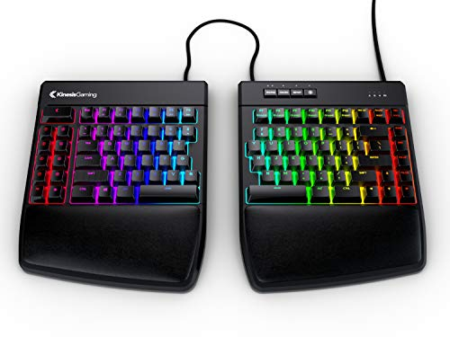 KINESIS Gaming Freestyle Edge RGB Split Mechanical Keyboard (MX Speed Silver)