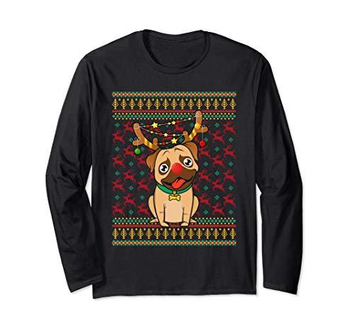 Aneisha Not so Ugly Christmas Mops Xmas Pyjama Langarmshirt
