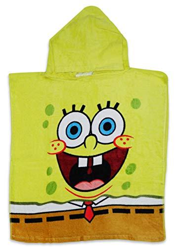Toalla de baño amarilla con capucha para niños de algodón
