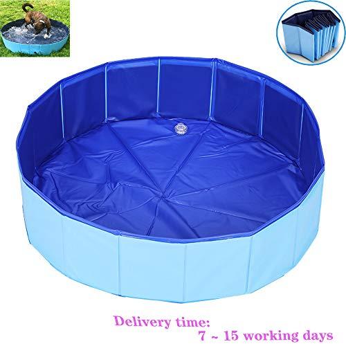 CAGYMJ Piscine pour Chien Pliable Portable Baignoire Douche Bassin pour Petite Animal - Piscine De Bain pour Enfant Extérieur Ou Intérieur,120 * 30cm